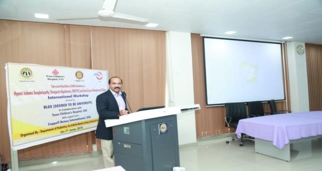 "Dr.Prakash Kabbur,President TaHB at International Workshop on ""HIE, Therapeutic Hypothermia"""" Jun 07-2018"