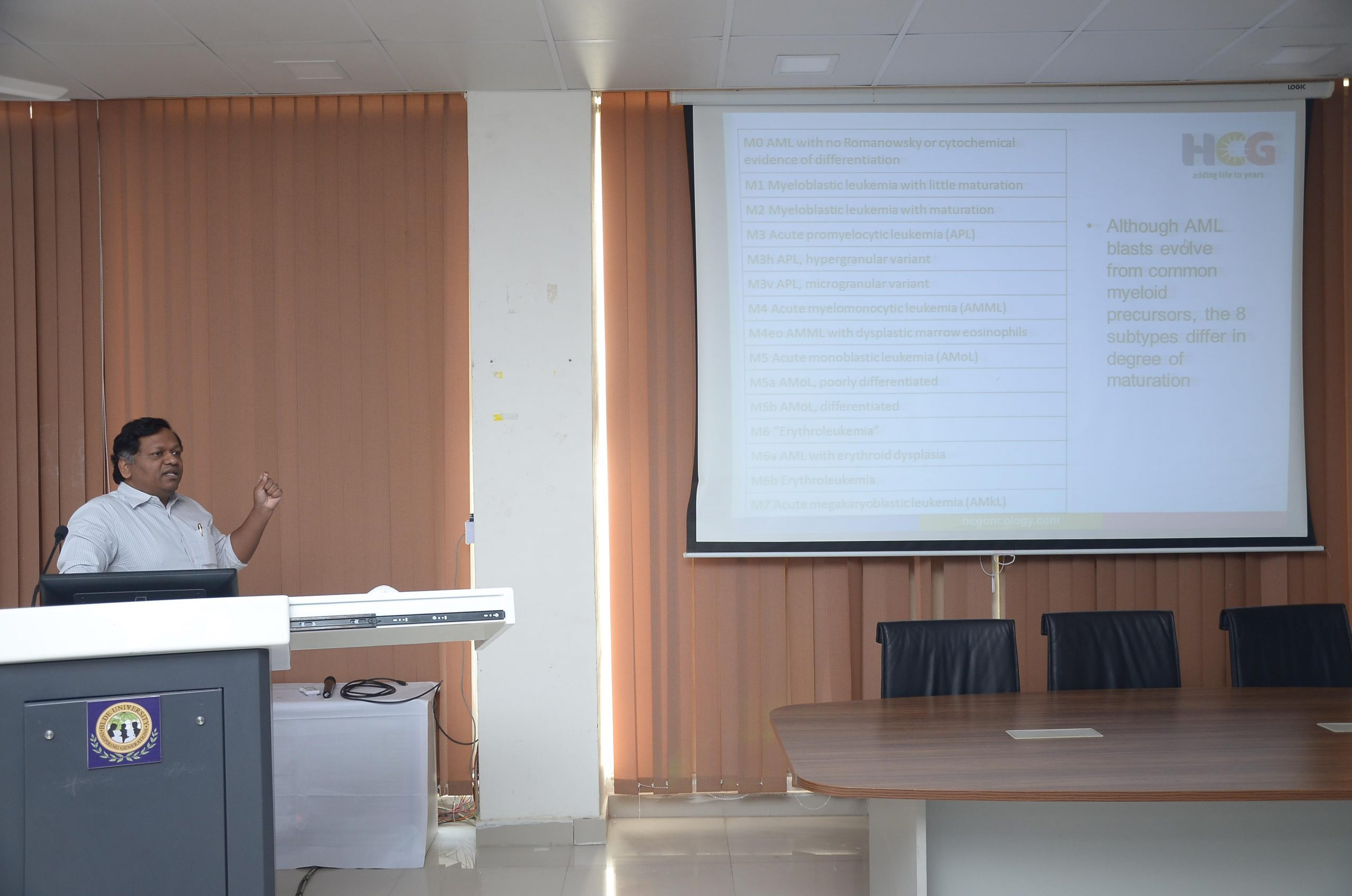 Guest Lecture on Hemato-Oncology