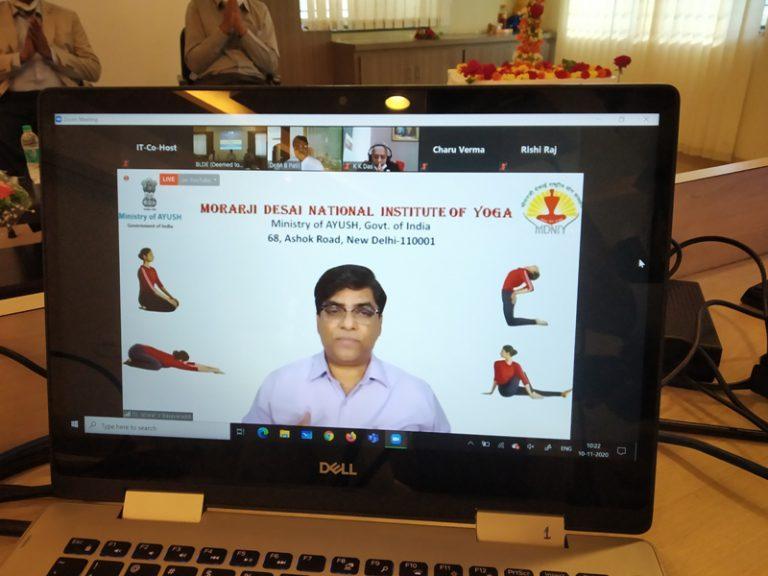 Virtual Inauguration Yoga Centre (15)
