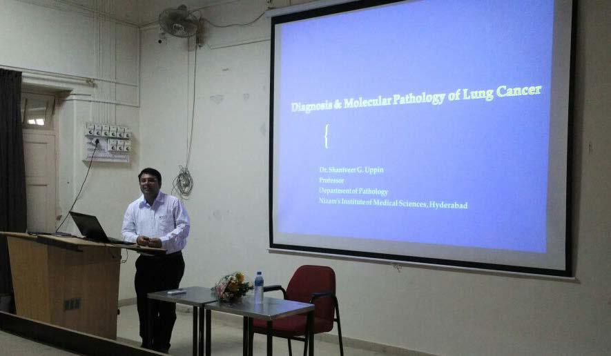 Guest Lecture on Diagnosis & Molecular Pathology of Lung Cancer