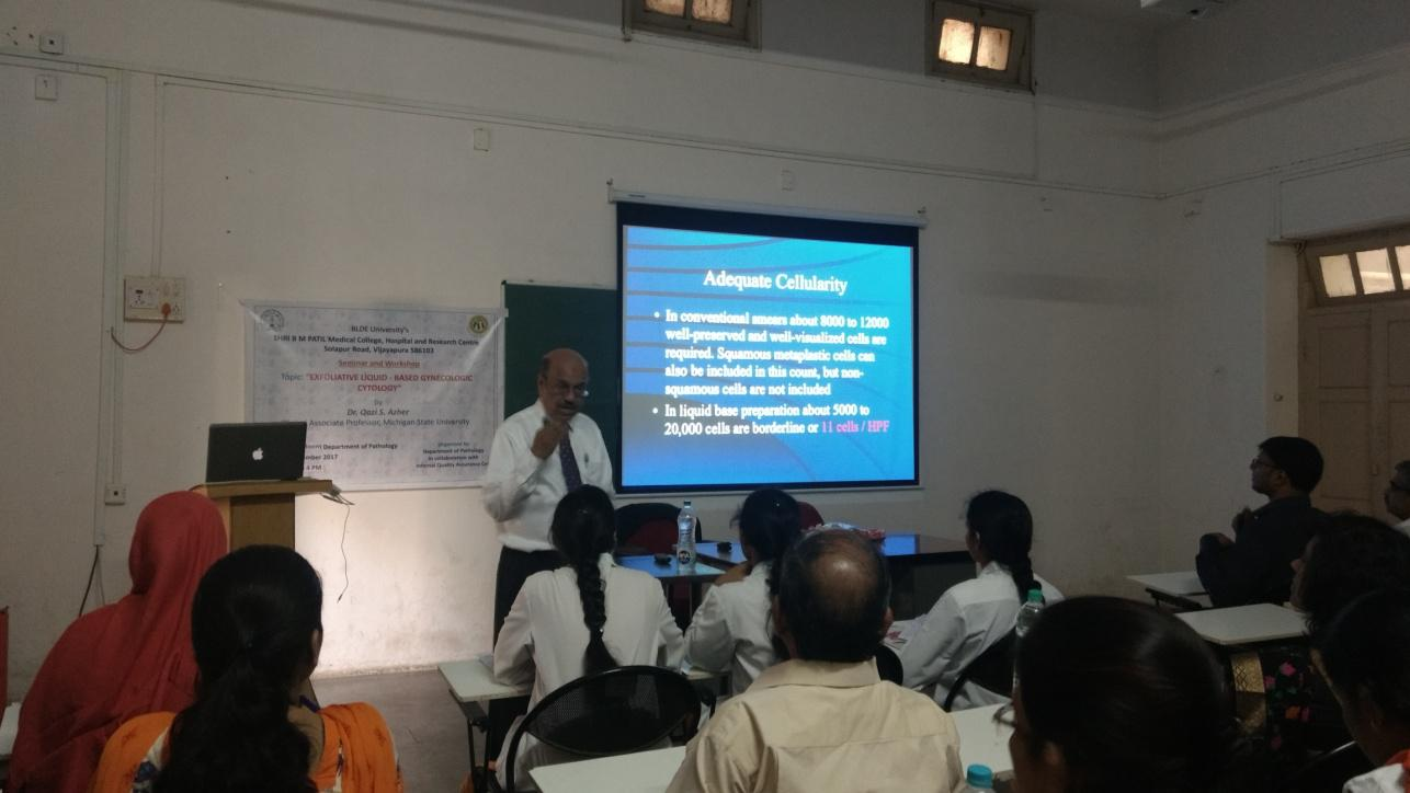 Guest Lecture on Exfoliative Liquid Based Cytology by Dr. Qazi