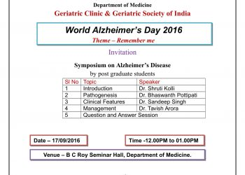 WORLD ALZHEIMER'S DAY 2016